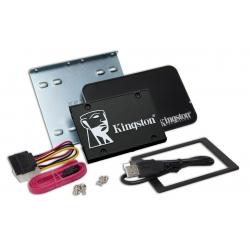 Kingston 2TB (2048GB) KC600 SSD 2.5 Inch 7mm, SATA 3.0 (6Gb/s), 3D TLC, 550MB/s R, 520MB/s W, (Bundle)