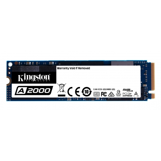 500GB Kingston A2000 M.2 SSD M.2 2280 PCIe NVMe Gen 3.0 (x4)