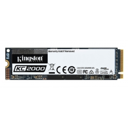 Kingston 2TB (2000GB) KC2000 SSD M.2 (2280), NVMe, PCIe 3.0 (x4), 3200MB/s R, 2200MB/s W