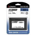 Kingston 7.68TB (7680GB) DC1000M SSD 2.5 Inch 7mm, U.2, NVMe, PCIe 3.0 (x4), 3100MB/s R, 2800MB/s W