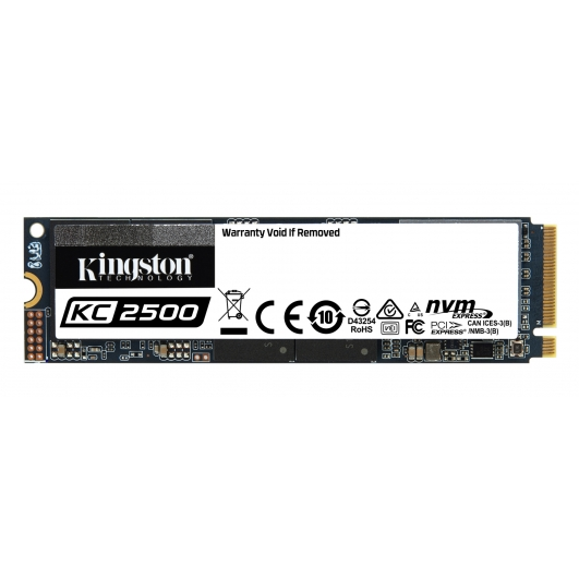 Kingston 500GB KC2500 SSD M.2 (2280), TCG Opal, NVMe, PCIe 3.0 (x4), 3500MB/s R, 2500MB/s W