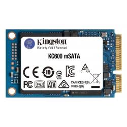 Kingston 512GB KC600 SSD mSATA, SATA 3.0 (6Gb/s), 3D TLC, 550MB/s R, 520MB/s W