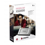 Kingston 1TB (1000GB) XS2000 Portable SSD USB 3.2, 2x2, Type-C, 2000MB/s R