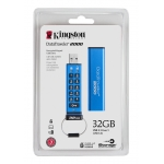 Kingston 32GB DataTraveler Encrypted Flash Drive USB 3.1, Gen1, 135MB/s