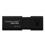 Kingston 64GB USB 3.0 DataTraveler Flash Drive, USB 3.0, 100MB/s