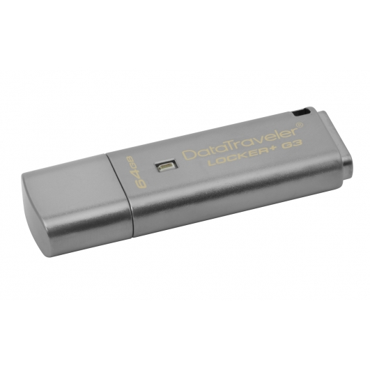 Kingston 64GB USB 3.0 DataLocker+ G3 Memory Stick Flash Drive