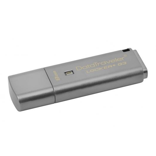 Kingston 8GB USB 3.0 DataLocker+ G3 Memory Stick Flash Drive