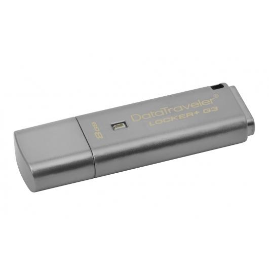 Kingston 8GB USB 3.0 DataLocker+ G3 Memory Stick Flash Drive