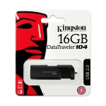 Kingston 16GB USB 2.0 DataTraveler DT104 Memory Stick Flash Drive