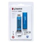 Kingston 128GB DataTraveler Encrypted Flash Drive USB 3.1, Gen1, 135MB/s