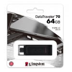 Kingston 64GB DataTraveler DT70 Type-C Flash Drive USB 3.2, Gen1, 80MB/s