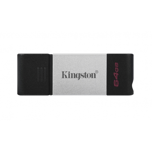 Kingston 64GB DataTraveler DT80 Type-C Flash Drive USB 3.2, Gen1, 200MB/s