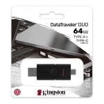 Kingston 64GB DataTraveler Duo Type-A/C Flash Drive USB 3.2, Gen1