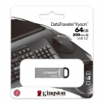 Kingston 64GB DataTraveler Kyson Type-A Flash Drive USB 3.2, Gen1, 200MB/s