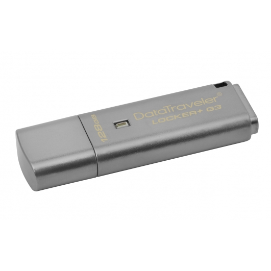 Kingston 128GB DataLocker+ G3 Encrypted Flash Drive USB 3.0, 135MB/s